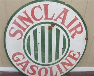 4' Porcelain Sinclair Gasoline Sign - Single Sided