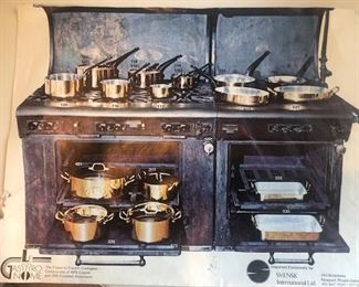 Complete set of unused Gastronome French Copper cookware