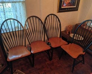 High back wood Dining Chairs