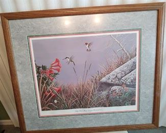 Framed Triple matted nonglare  glass  28 x 32 Signed by artist $150..00
