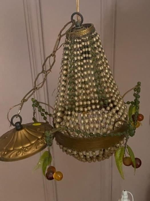 Antique crystal chandelier - $150.00