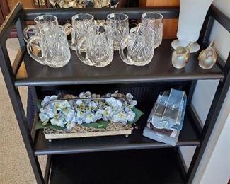 Waterford crystal mugs.