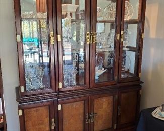 Gorgeous Asian influence lighted china cabinet/hutch.