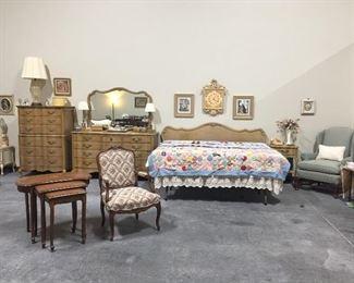 Lovely French Provincial Bedroom Set, 12 drawer dresser and 8 drawer chest