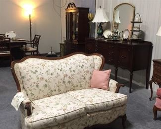 Pair of 2 lovely French Love Seats