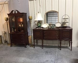 Beautiful China Cabinet and Sideboard/ Buffet