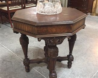 Gorgeous Ornate Octagon Parlor Table