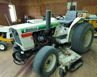 1982 Bolens tractor with Woods belly mower. Last ran couple years ago, used to cut the grass on 19 acre property. Has slight, unresolved electrical issue.