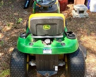 John Deere Riding Lawn Mower up for silent bid.  Bids will be opened at 2 pm on Saturday.