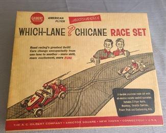VINTAGE  Which-Lane? Chicane Race Set in original box