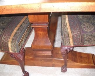 DETAILS OF DINING TABLE BASE & CHAIR LEGS