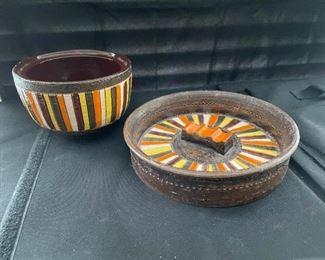 Pottery BowlDividedPlate