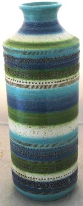 """3 - Vintage Rosenthal Netter for Bitossi vase 16 1/2"""" tall"""