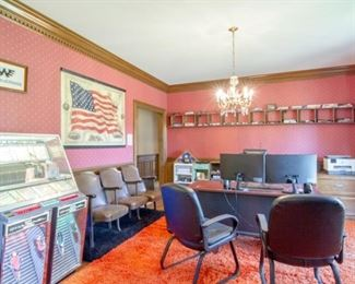Jukebox $7,750, Theater Seats$750, Office Chair$300 for both, Waylon Jennings artwork $750