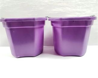 """100 NEW Two (2) 20 Qrt. Flat back bucket, 11"""" tall. Made in USA. NEW Two (2) 20 Qrt. Flat back bucket, 11"""" tall. Made in USA."""