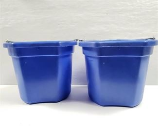 """102 NEW Two (2) 20 Qrt. Flat back bucket, 11"""" tall. Made in USA. NEW Two (2) 20 Qrt. Flat back bucket, 11"""" tall. Made in USA."""