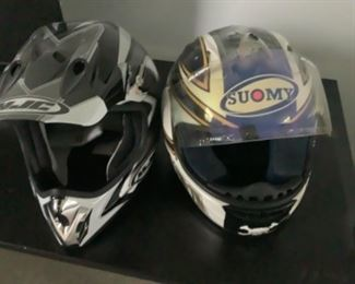 Two helmets....one is a Suomy and one is HTC.  Presale $95 each.