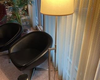 Vintage Mid Century Modern Laurel brushed nickel adjustable height floor lamp