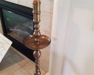 Large brass candlestick