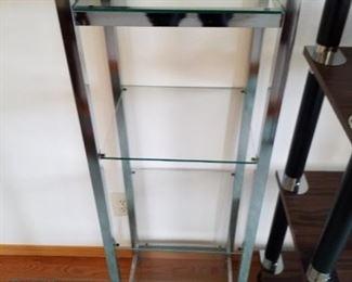 Chrome and glass shelf