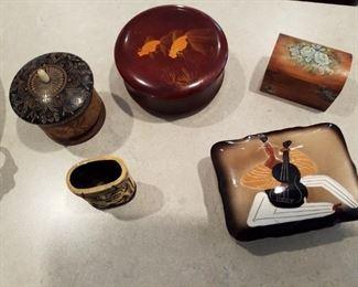 Oriental trinket boxes