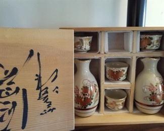 Oriental,  saki set
