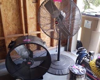 2 large fans