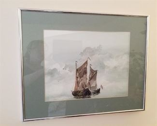 Water color ship