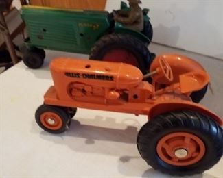 Allison Chalmers and Oliver 77 toy tractors