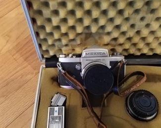 Miranda camera with accessories