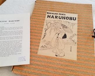 Woodblock prints Harunobu