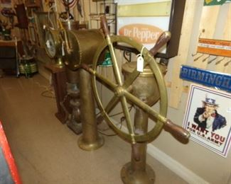 Solid Brass Ships Telegraph, Submarine Telegraph and Ships Stearing................. Perfect for your Lake House!!!!
