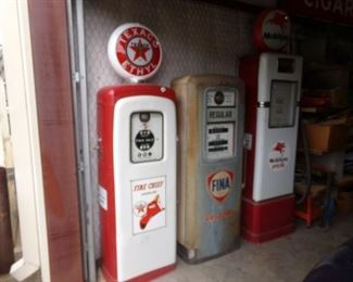 Decor Gas Pumps ready for your Garage/Shop or Man Cave