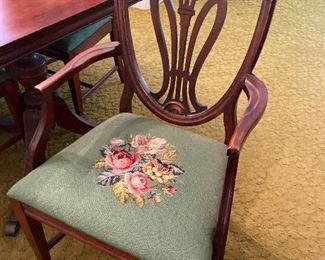 Beautiful antique tapestry arm chair
