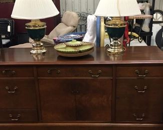 nice credenza for office or home - cute vintage lazy Susan server
