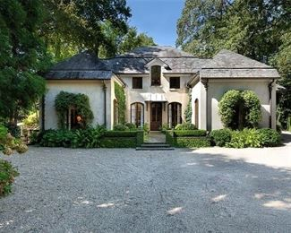 Front entrance of the 5K sq. ft home, designed by classical architect, Keith Summerour.