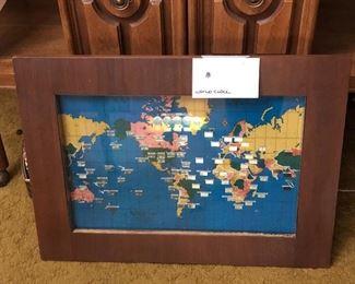 World clock vintage
