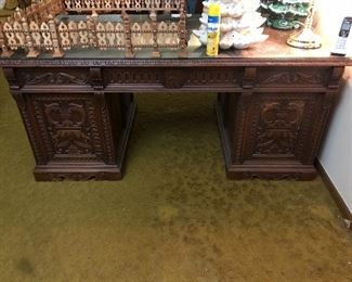 Carved desk paid $10,000 for it!