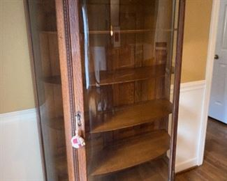 bowfront display cabinet