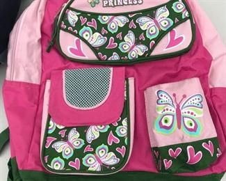 P2: Lot of 2 Kids' Backpacks in Blue and Pink Colors