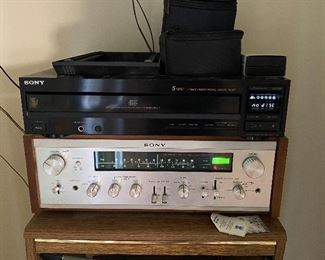 Sony CD Player and Vintage Sony Receiver (Working)