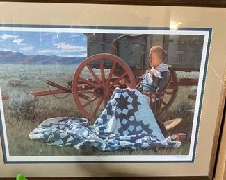 """""""The Broken Star Quilt"""" Signed and Numbered Print (Fred Fellows)"""