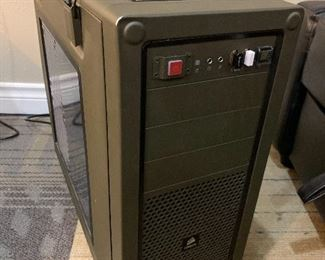Desktop computer, custom built from individually chosen components by Fry's Electronics in 2016. Good as a desktop, and for light gaming. GPU is not good for heavy 3D games, but ran Subnautica on Steam just fine.  Full specs at this link: https://www.userbenchmark.com/UserRun/42048531  Asking $200