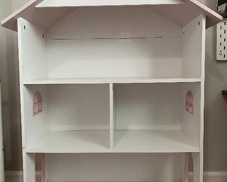Doll house/book shelf. About 2.5ft wide by 3.5ft tall. $50.