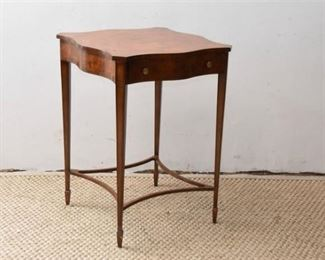3. Maitland Smith Scrolling Square Top Occasional Table