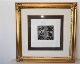 4. Henry Moore Pencil Signed Lithograph 150 Six Figures