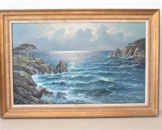 1. Alex Dzigurski Costal Painting Oil on Canvas