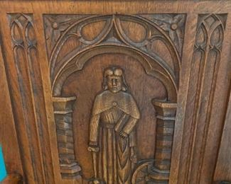 Gothic European Monastery Dining Room Chair -                         VERY DETAILED CARVINGS - EACH ONE IS                       DIFFEREN!,