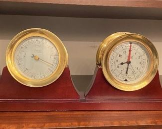 WEEMS & PLATH Clock & Barometer,