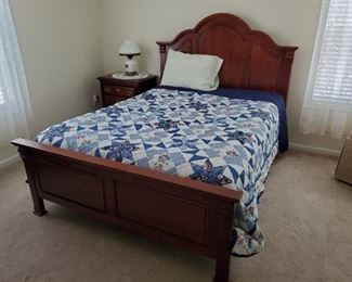 Queen bedroom suite - bed and nightstand